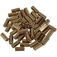 Tornillo - SODIAL(R) 50pzs Hexagonal 11mm longitud M3 hembra Espaciadores de soporte de PCB de rosca