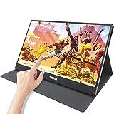 15,6 pollici usb c monitor portatile touchscreen, Thinlerain HDMI IPS 1920 * 1080 con Type c/HDMI/USB, compatibile con Mac PC PS4 Switch