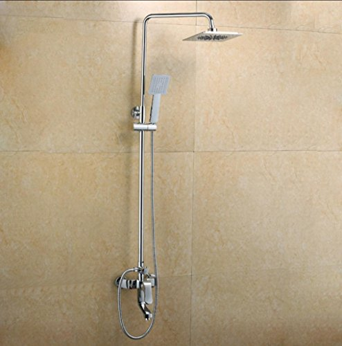 Preisvergleich Produktbild Caribou Wandhalterung aus massivem Messing Badezimmer Dusche von Bleifreien Multifunktionsdrucker Shower-Head/Handheld-Shower Combo, Chrom