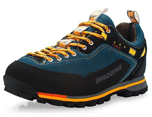 3407a0495fa GNEDIAE Zapatillas de Senderismo Hombre Big Size Leather Lace-ups Trail  Camping Sneaker para ...