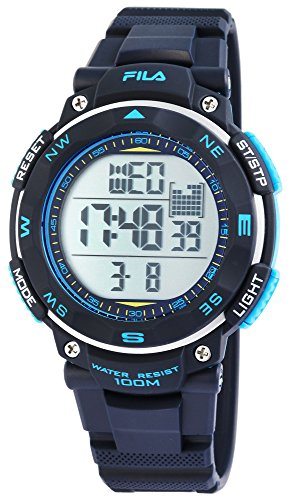 Fila sportliche Herrenuhr Digital 10 BAR Licht Alarm 38-824-002