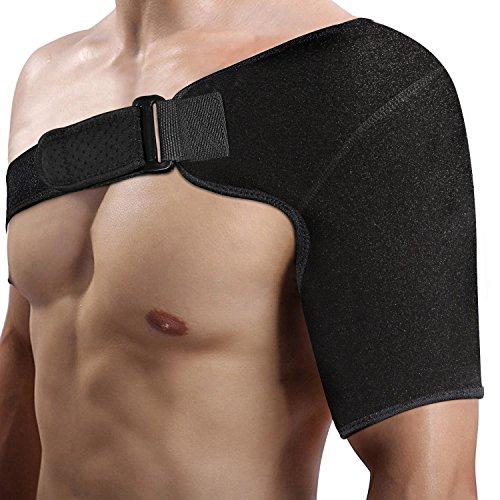 DOACT Einstellbare Schulterbandage - Schulter-Bandage für Mehr Unterstützung Bei Sport und Fitnessaktivitäten für Männer und Frauen, Passend für Linke Oder Rechte Schulter
