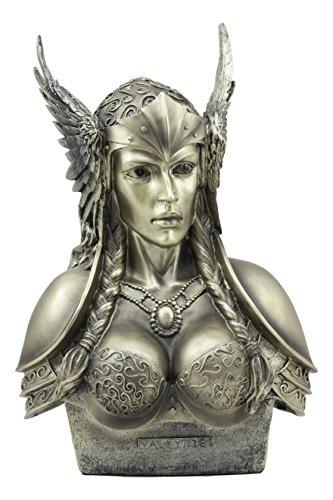 Ebros nordischen Viking Mythologie Poetic Edda Göttin Valkyrie Büste Statue 27,9cm Hoch Odin \'s P25INM-chooser Getötet der Deko Figur