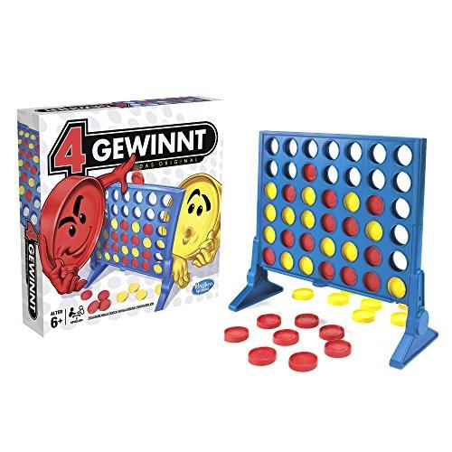 Hasbro - 4 gewinnt Strategiespiel, für 2 Spieler, 4 gewinnt Rasterwand, 4 in einer Reihe, für Kinder ab 6 Jahren