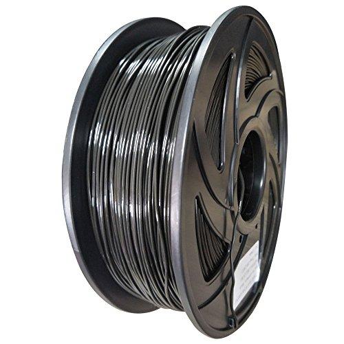 Wokeke 3D Filament PLA-1KG1.75-BLK Filtre d'imprimante PLA 3D, précision dimensionnelle +/- 0.05 mm, 1 kg Bobine, 1.75 mm, Noir