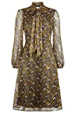 Traffic People Dreamer Mini Dress in Gold