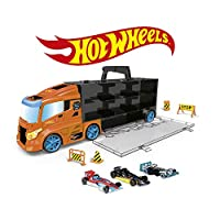 ODS- Transporter 40 Hot Wheels Truck Case with Original Cars Included, Colour Orange, 42033