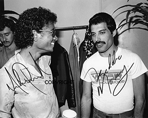 THEPRINTSHOP Michael Jackson Freddie Mercury, signiertes Foto mit Zertifikat