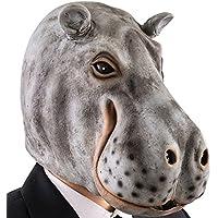 Carnival Toys 1489 Máscara hipopótamo, gris, ...