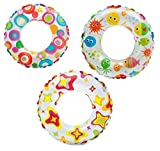 Intex Lively Print 24 inch Swim Ring, Multi Color