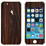 #6: GADGETS WRAP FULL BODY WOODEN EBONY SKIN FOR APPLE IPHONE 5S/SE (S-14)