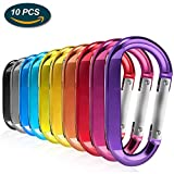 Lookka Carabiner clip, Durable D-Ring Keychain Clips camping accessories for Outdoor Home Rv, Camping, Fishing, Hiking, Travelingr