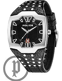 Police PL.13634JS-02 - Reloj analógico de cuarzo para hombre, correa de cuero color negro