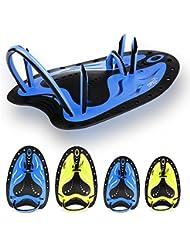 Copozz la natation Pagaies à la main Pagaies de natation d'entraînement de natation Pagaies de large plat pour homme femme garçons filles