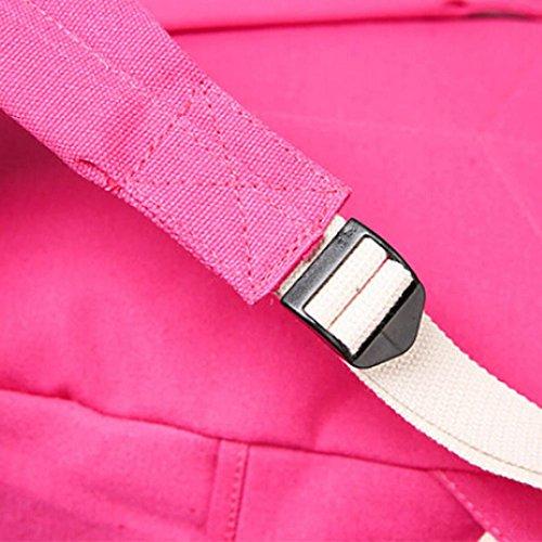 BZLine® Frauen Canvas Schultasche Mädchen Rucksack Reisen Rucksack, 40cm x 35 cmx 13 cm Hot Pink