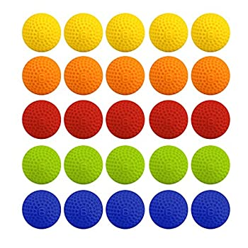 Bullet Ball For Nerf Rival,amamary 20pcs Balls Round Refill Compatible For Rival Apollo Xv-700 Blaster Rival Zeus Mxv-1200 Child Toy (Red) 4