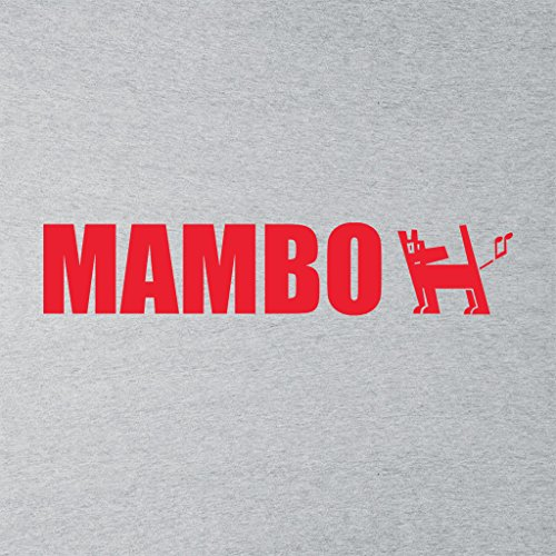 Mambo Farting Dog Logo Women's T-Shirt Heather Grey