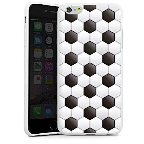 Apple iPhone 4 Silikon Hülle Case Schutzhülle fussball fußball muster Silikon Case weiß