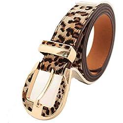 Batedan - Cinturón - para mujer leopardo 120cm