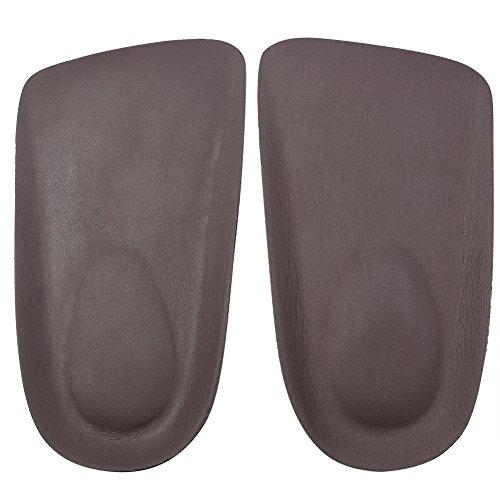 footinsole Fersenkissen-Schuh-Einlegesohlen - Beste Schuh-Einsätze - Leather Brown (Jordan Real Schuhe)