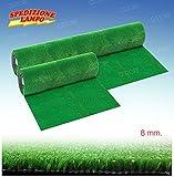Prato sintetico erba finta artificiale calpestabile 8 mm tappeto verde moquette vari misure … (1 METRO) immagine