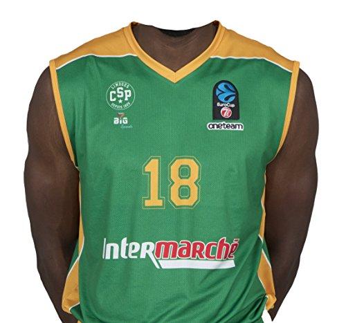 Bigsport Replica jaiteh FIBA Eurocup Limoges CSP Außen Basketball Trikot Jungen XL grün