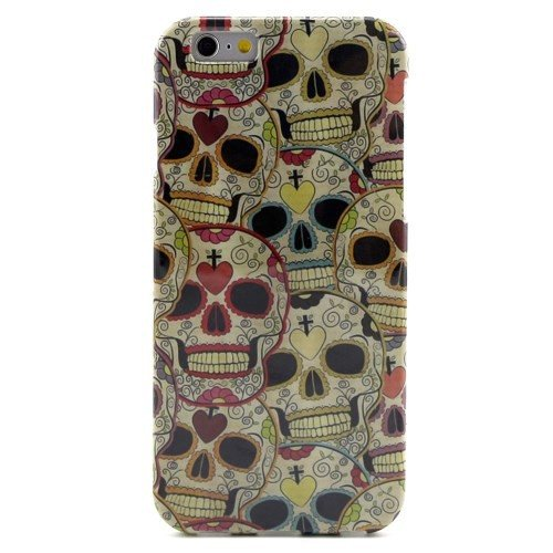jbTec® TPU-Case / Hülle zu Apple iPhone 6 / 6s - MOTIV #02 - Handy-Schutzhülle, Motiv / Muster:Totenköpfe T03 Totenköpfe T04