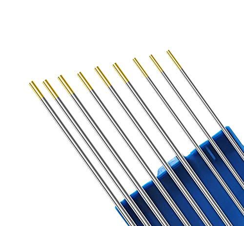 Kattex - SET/MIX - WIG Elektroden gold (je 3 Stück Ø 1,6/2,0/2,4mm) WL-15, WIG Schweißen, Wolframelektroden 2/0 Gold Mix