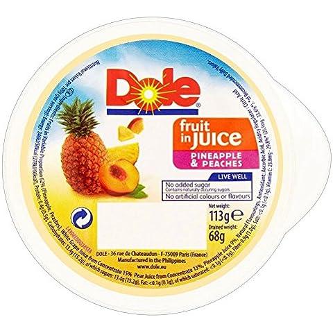 Dole Frutas En Jugo De Piña Y Melocotón (113g) (Paquete de 2)