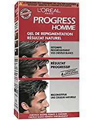 loral paris progress homme gel de repigmentation naturelle coloration cheveux blancs - Shampoing Colorant Homme