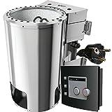 Karibu Bio-Saunaofen 3,6 kW mit Steuerung 20 kg Saunasteine 230 V Steckdose Sauna Ofen Energiesparofen mit elektronischer Außensteuerung Bio-Kombiofen mit...