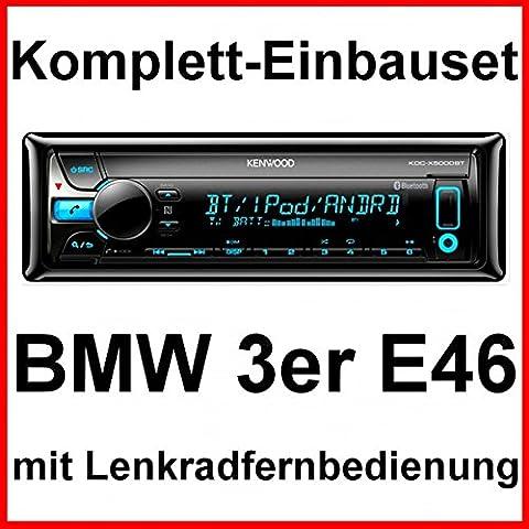 Komplett-Set BMW 3er E46 mit Kenwood KDC-X5000BT MP3 Radio USB BT NFC Autoradio