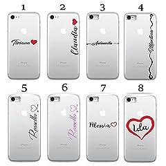 Idea Regalo - CASEONE® Cover per Apple iPhone - Personalizzata Nome Scritto A Mano - Mpm Gomma (iPhone 6 Plus / 6s Plus, 5 - Nome Handwriting Arrow Hearth)