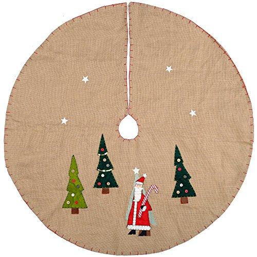 WeRChristmas–Decoración para base de árbol de Navidad de Papá Noel, marrón, multicolor,...
