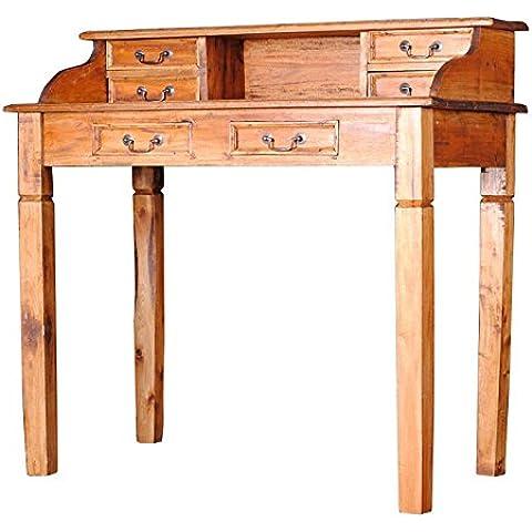 DuNord Design Secreter Consola Jaipur caoba madera maciza Rustic Honey escritorio–Cómoda