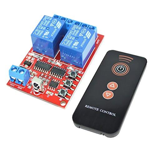 MagiDeal 24V 2CH Modulo Relè InterrutoreIntelligente Per Apparecchiature Elettroniche+Telecomando