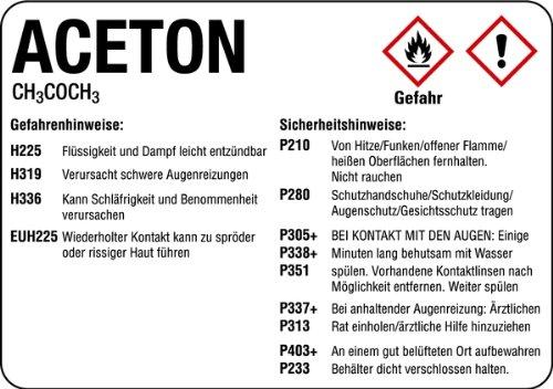 LEMAX® Aufkleber Aceton 105x148mm
