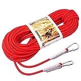JohnJohnsen 9.5mm Outdoor-Klettern Sicherungsseil Kletterseil 10 Meter Red Flucht Seil Schwimmleine (rot)