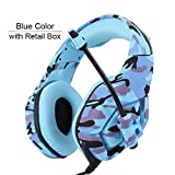 PS4 Gaming Headset Wired PC Stereo Earphones Headphones with Microphone for New Xbox One/Laptop Tablet Gamer,Blue 2 with Retail Box