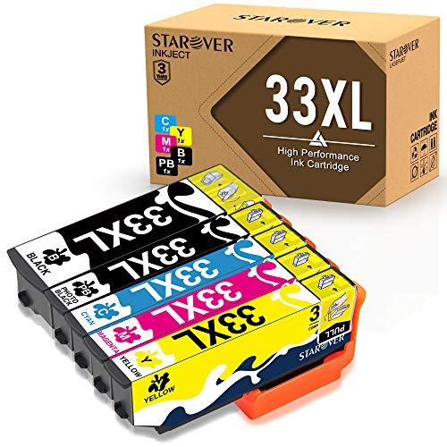 STAROVER 5x 33XL 33 XL ((T3351 T3361 T3362 T3363 T3364) Compatibile Cartucce d'inchiostro Sostituzione Per Expression Premium XP-530 XP-540 XP-630 XP-635 XP-640 XP-645 XP-830 XP-900