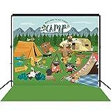 musykrafties Woodland - Fondo para Fiestas de Camping, diseño de Animales de la Madera, tamaño Grande, decoración para Postre, Mesa de Fondo, fotógrafo, 7 x 7 pies