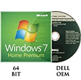 Windows 7 Home Premium 64 bit OEM DVD + Activation key DELL branded