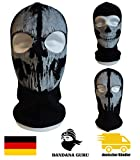 Bandana Guru Sturmhaube Geister Totenkopf Schädel Maske Balaclava Ghosts Skimaske Motorradmaske Windmaske Snowboardmaske für Outdoor Sport Paintball (Skull Ghosts 2)