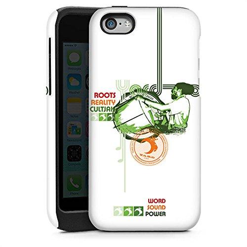 Apple iPhone 4 Housse Étui Silicone Coque Protection Jamaïque Peace Rasta Cas Tough brillant