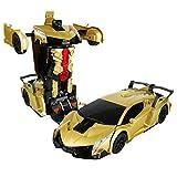 1:12 Transformer Voiture Robot Jouet Enfants Transformation Robot Télécommande Voiture Un Bouton Transformation