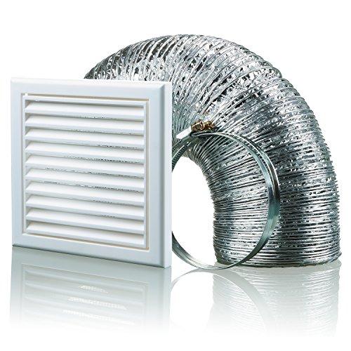 Aluminium-vent Pipe (Blauberg UK bb-chk-125–3-vswh 125mm Dunstabzugshaube Duct Vent Kit Fan Extractor–Weiß)