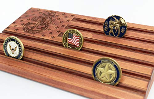 Loki Gravur Rot Chief Petty Officer American Flagge-Challenge Coin Display-CPO-Chief Anchor-Münzfach-Chief abstecken Geschenk (Münze Anzeigen Amerikanische)