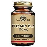 Solgar, Vitamina B12 100 MCG, 100 comprimidos