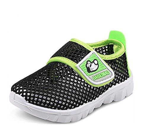Schuhe Kinderschuhe, Babyschuhe Kinder Sommer Atmungsaktives Mesh Sportschuhe Jungen Mädchen Sneaker Strand Weiche Sohle Sandalen Bottom Rutschfest Freizeitschuhe Sneaker (30, Schwarz)