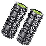 ADOV® Faszien Rolle für Muskelaufgabe und tiefe Gewebemassage, extrafeste hohe Dichte strapazierfähig für Triggerpunkttherapie myofasziale Freisetzung, CrossFIT, Stretching, Zugentlastung Yoga- 2 Pack